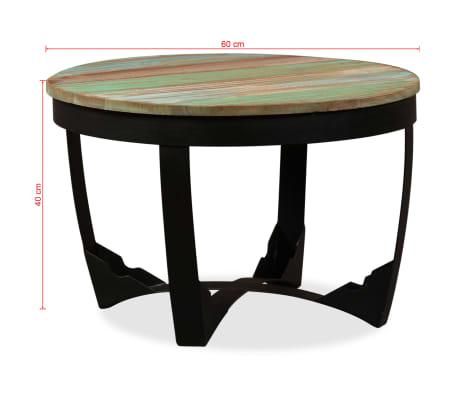 vidaXL Šoninis staliukas, masyvi perdirbta mediena, 60x40 cm[11/11]