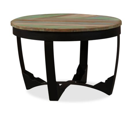 vidaXL Šoninis staliukas, masyvi perdirbta mediena, 60x40 cm[3/11]