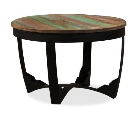 vidaXL Šoninis staliukas, masyvi perdirbta mediena, 60x40 cm[4/11]
