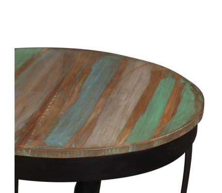 vidaXL Šoninis staliukas, masyvi perdirbta mediena, 60x40 cm[8/11]