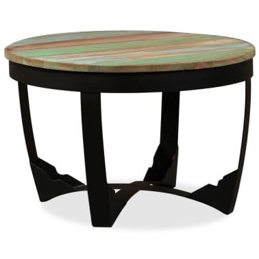vidaXL Šoninis staliukas, masyvi perdirbta mediena, 60x40 cm[2/11]