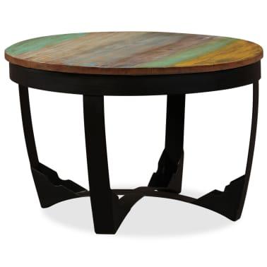 vidaXL Šoninis staliukas, masyvi perdirbta mediena, 60x40 cm[5/11]