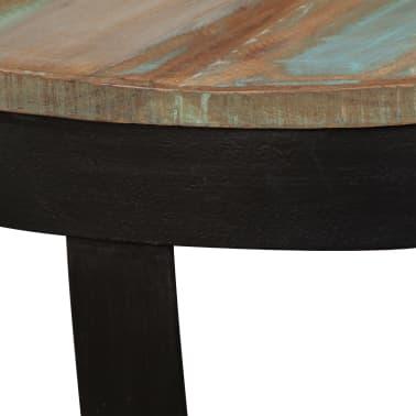 vidaXL Šoninis staliukas, masyvi perdirbta mediena, 60x40 cm[9/11]