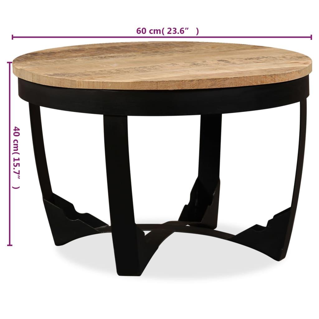 vidaXL Bočni Stolić Masivno Grubo Obrađeno Drvo Manga 60x40 cm