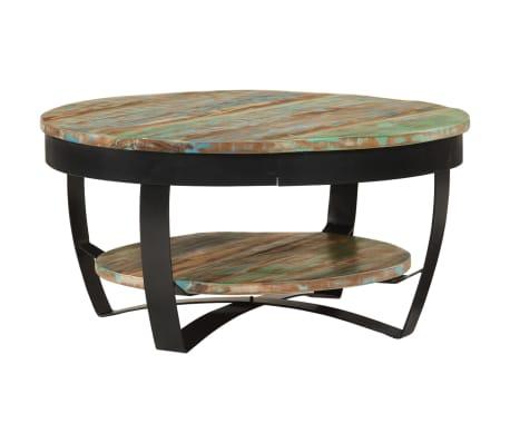 vidaXL sofabord i massivt genanvendt træ 65 x 32 cm