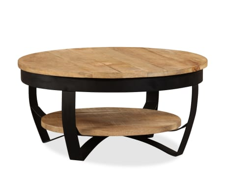 vidaXL Coffee Table 65 cm Solid Rough Mango Wood-picture