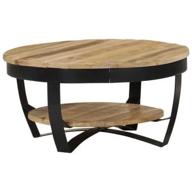 x vidaXL cm manguier Table Bois de 32 massif 65 basse WD2IH9E
