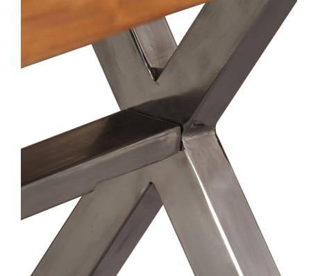 vidaXL Kavos staliukas, mediena su dalbergijos apdaila, 100x50x50 cm[9/10]