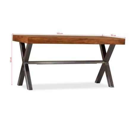 vidaXL Kavos staliukas, mediena su dalbergijos apdaila, 100x50x50 cm[10/10]