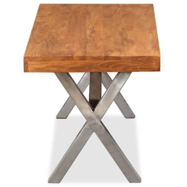 vidaXL Kavos staliukas, mediena su dalbergijos apdaila, 100x50x50 cm[6/10]