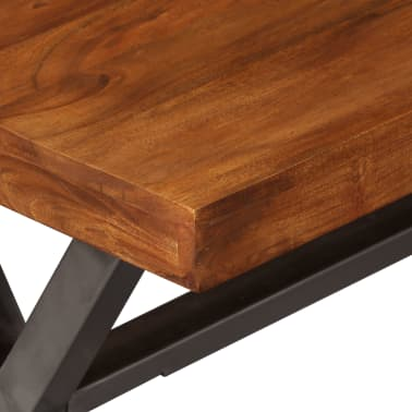 vidaXL Kavos staliukas, mediena su dalbergijos apdaila, 100x50x50 cm[7/10]