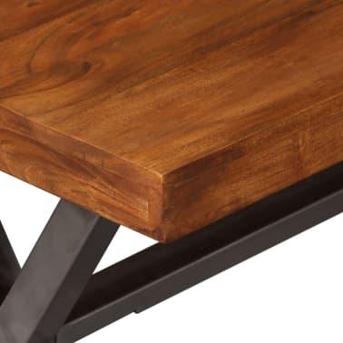 vidaXL Kavos staliukas, mediena su dalbergijos apdaila, 100x50x50 cm[8/10]