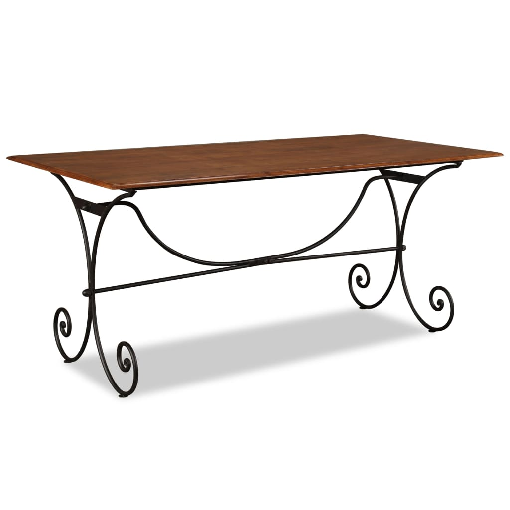 vidaXL Jídelní stůl, masivní dřevo, sheeshamový povrch 180x90x76 cm