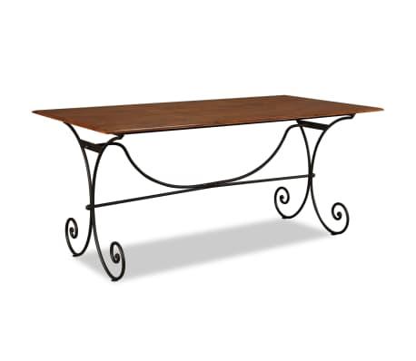 vidaXL Table de salle à manger Bois et finition en Sesham 180x90x76 cm