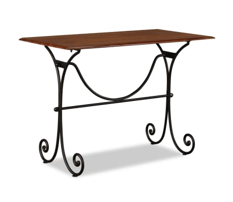 vidaXL Table de salle à manger Bois et finition en Sesham 110x60x77 cm