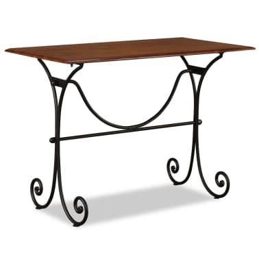 vidaXL Table de salle à manger Bois et finition en Sesham 110x60x77 cm[1/8]
