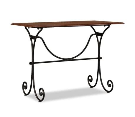 vidaXL Table de salle à manger Bois et finition en Sesham 110x60x77 cm[2/8]
