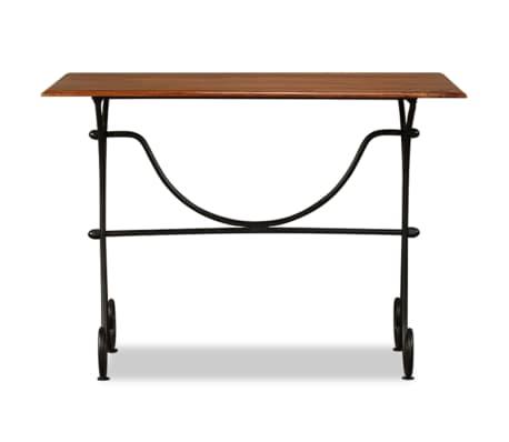 vidaXL Table de salle à manger Bois et finition en Sesham 110x60x77 cm[3/8]