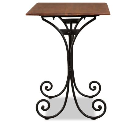 vidaXL Table de salle à manger Bois et finition en Sesham 110x60x77 cm[4/8]
