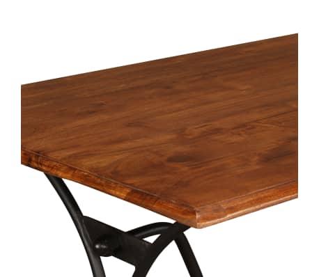 vidaXL Table de salle à manger Bois et finition en Sesham 110x60x77 cm[5/8]