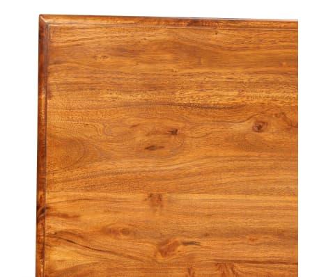 vidaXL Table de salle à manger Bois et finition en Sesham 110x60x77 cm[6/8]