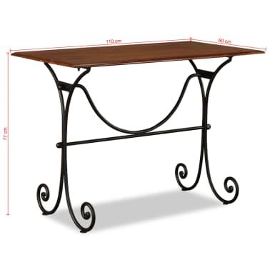 vidaXL Table de salle à manger Bois et finition en Sesham 110x60x77 cm[8/8]