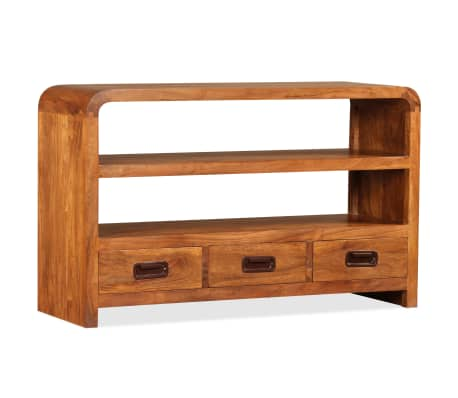 vidaXL Tv-meubel 90x30x55 cm massief hout met sheesham afwerking[1/11]