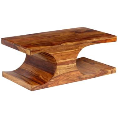 vidaXL Kavos staliukas, rausvosios dalbergijos med., 90x50x35cm[1/13]