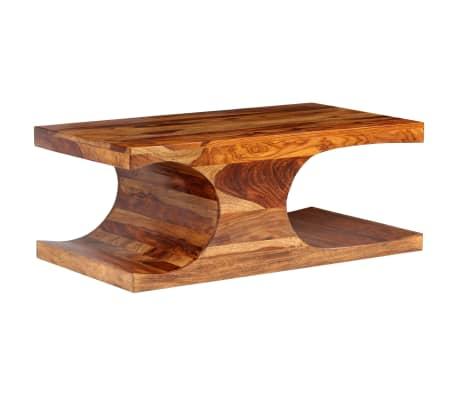 vidaXL Kavos staliukas, rausvosios dalbergijos med., 90x50x35cm[13/13]