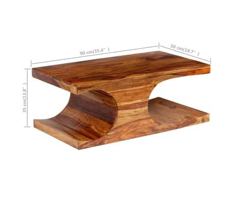 vidaXL Kavos staliukas, rausvosios dalbergijos med., 90x50x35cm[7/13]