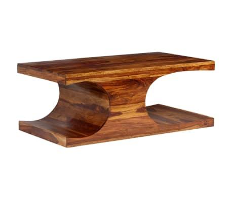 vidaXL Kavos staliukas, rausvosios dalbergijos med., 90x50x35cm[10/13]