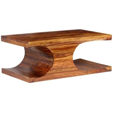 vidaXL Kavos staliukas, rausvosios dalbergijos med., 90x50x35cm[11/13]