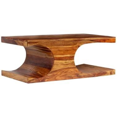 vidaXL Kavos staliukas, rausvosios dalbergijos med., 90x50x35cm[8/13]