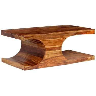 vidaXL Kavos staliukas, rausvosios dalbergijos med., 90x50x35cm[9/13]