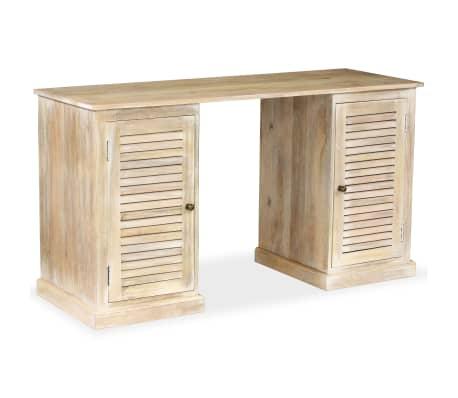 vidaXL Rašomasis stalas, masyvi mango mediena, 140x50x77cm[1/13]