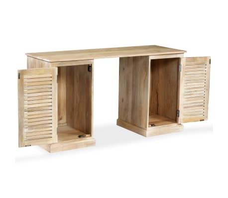 vidaXL Rašomasis stalas, masyvi mango mediena, 140x50x77cm[2/13]