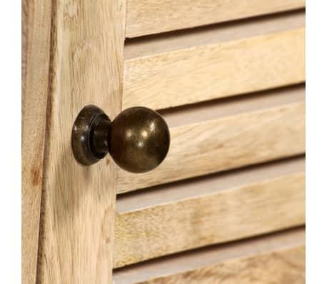 vidaXL Rašomasis stalas, masyvi mango mediena, 140x50x77cm[7/13]