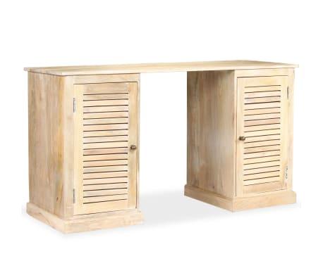 vidaXL Rašomasis stalas, masyvi mango mediena, 140x50x77cm[8/13]