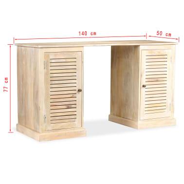 vidaXL Rašomasis stalas, masyvi mango mediena, 140x50x77cm[13/13]