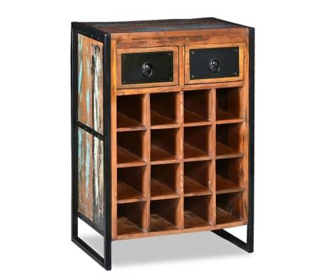 vidaXL Stojan na víno na 16 lahví masivní recyklované dřevo