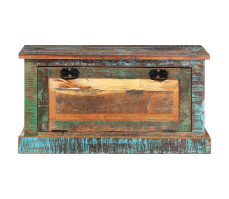 vidaXL Klupa za Pohranu Cipela Masivno Obnovljeno Drvo[2/16]
