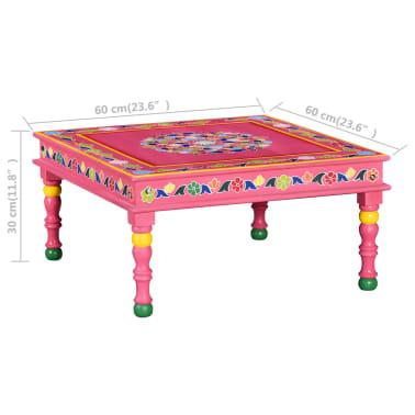 vidaXL Kavos staliukas, mango mediena, rožinis, tapytas rankomis[9/9]