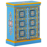 vidaXL Sideboard Solid Mango Wood Turquoise Hand Painted
