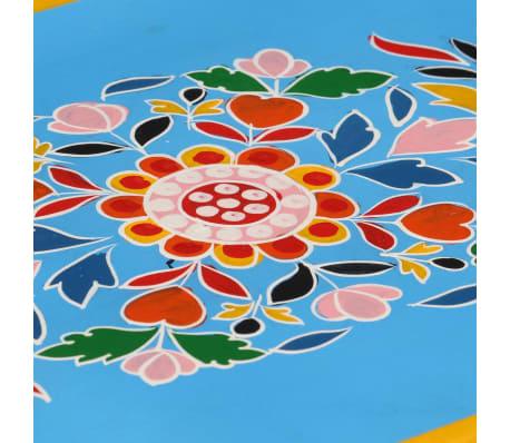 vidaXL Buffet Bois massif de manguier Peinture manuelle turquoise[7/10]