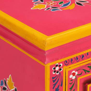 vidaXL Buffet Bois massif de manguier Peinture rose à la main[6/10]