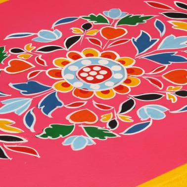 vidaXL Buffet Bois massif de manguier Peinture rose à la main[7/10]