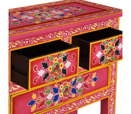 vidaXL Buffet avec tiroirs Bois massif de manguier Peinture rose[6/11]