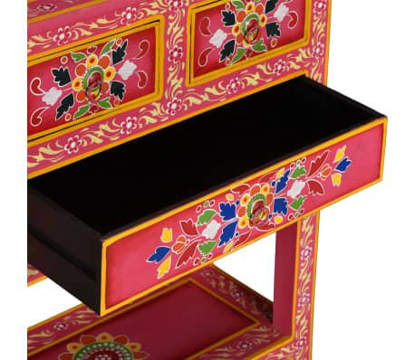 vidaXL Buffet avec tiroirs Bois massif de manguier Peinture rose[7/11]