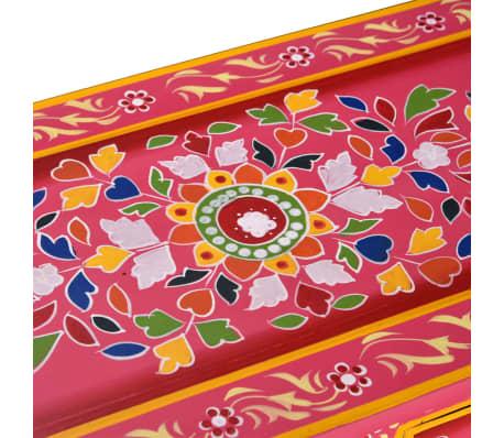 vidaXL Buffet avec tiroirs Bois massif de manguier Peinture rose[9/11]