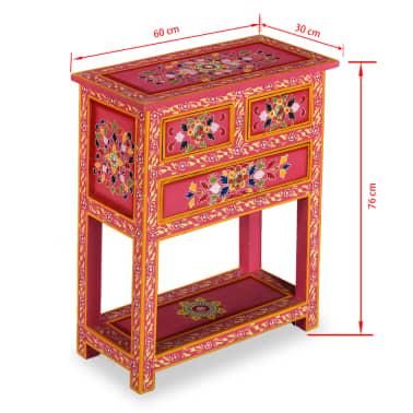 vidaXL Buffet avec tiroirs Bois massif de manguier Peinture rose[11/11]